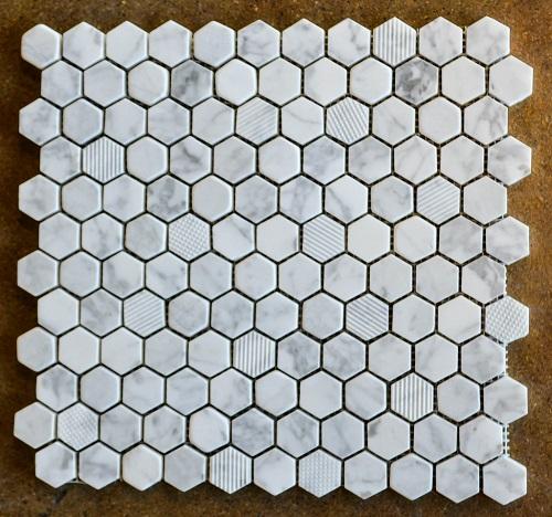 MUL: Hexagon Mosaic - Carrara Marble - Tile for Less Utah