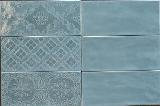 Lau 4x10 Mailolica Deco Subway Aqua Tile For Less Utah