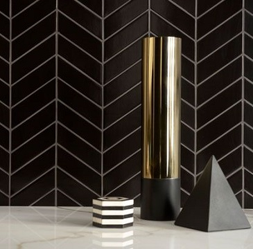 Mul 3 Quot X16 Quot Chevron Tino Black Tile For Less Utah
