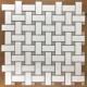 Lau Grey Dot Basketweave mosaic