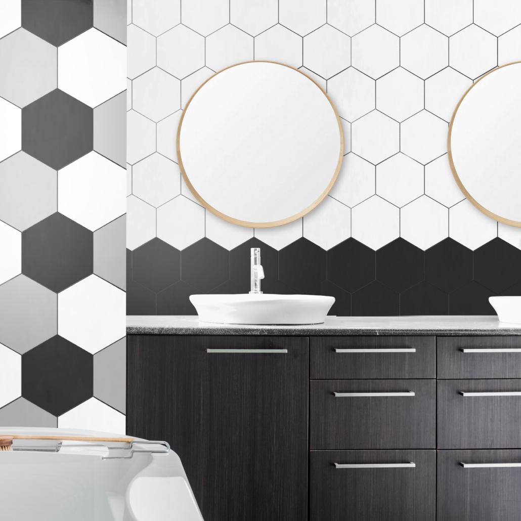 Mon 8x9 White Hexagon Porcelain Tile Tile For Less Utah